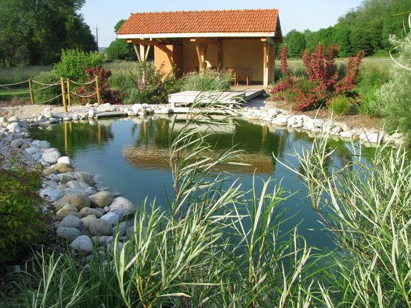 Les abords du moulin le pool house du bassin de baignade for Bassin de baignade