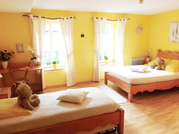 """chambre """"Soleil"""" (gîte pour mariage)"""